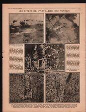 WWI Artillery British Army Gaz Gas Thiepval Bataille la Somme  1917 ILLUSTRATION