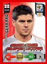 SOUTH AFRICA 2010 - Adrenalyn Panini - Card ENGLAND SUPERSTAR - GERRARD