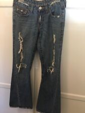 True Religion Woman's Twisted Seam Destructed Jeans 503 Size 29