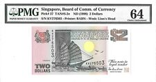 SINGAPORE $2 DOLLARS 1998 BOARD OF COMM. OF CURRENCY PICK 37 LUCKY MONEY $64