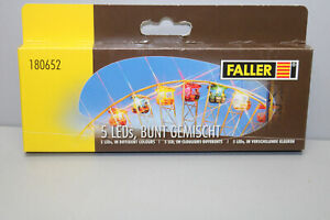 FALLER 180652 5 Leds Colourful Mixed Gauge H0 Boxed