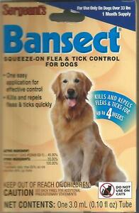 Flea & Tick Control Treatment Medicine For Dogs, Sergeants Bansect (2 Packs)