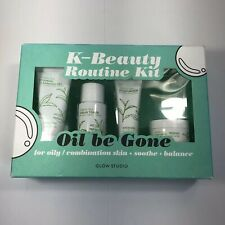 K-Beauty Glow Studio Oil Be Gone Routine Kit Cleanser Moisturizer