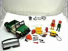 VINTAGE PLAYMOBIL LOT GARAGE CAR FIGURES AND ACCESSORIES