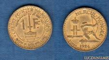 Monaco – 1 Franc Louis II 1924 Poissy 4 (éclair) TB TTB