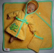 Handgefertigte Babypuppen-Badekleidungen