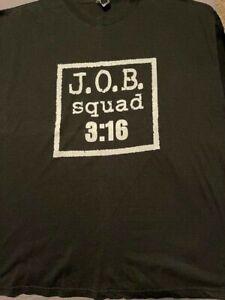 Authentic Vintage Al Snow JOB Squad T-Shirt.  JOB Squad 3:16.  XXL  WWF 2 Sided