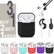 NEW 3 IN 1 AirPods Silicone Case Cover Protective Skin for Apple Airpod Charging