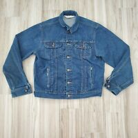 Dakota Five Brother Vtg Large Mens Blue Jean Denim Trucker Jacket USA Made