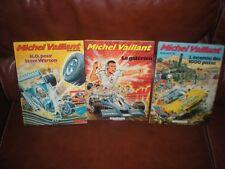 MICHEL VAILLANT - LOT DE 3 TOMES EDITIONS 1985 NOVEDI DOS NUMEROTES EN BAS