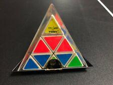 Vintage 1981 Tomy Pyraminx Pyramid Triangle - Rubik's Cube Toy Puzzle