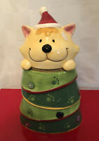 Very cute Small puppy dog ceramic Christmas cookie jar
