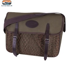Jack Pyke Canvas Game Bag Green Washable Lining Leather Country Hunting Shooting