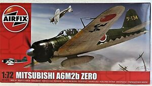 AIRFIX MITSUBISHI A6M2b ZERO plastic plane kit 1:72 #AO1005 New