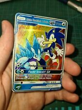 Alolan Sandslash and Sonic GX Tag Team Custom Pokemon Card In Holo