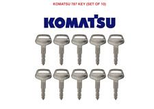 10 x KOMATSU 787 Master Plant Excavator Digger Dumper Tractor Genuine Keys