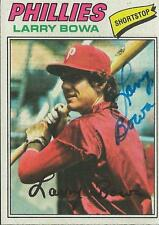 Larry Bowa 1977 Topps Autograph #310 Phillies