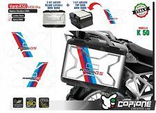 3 Adhesivos Maletas BMW Vario K 50R 1200 850 800 White Strip VK5004A