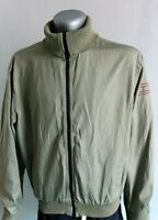Womens TOMMY HILFIGER Bomber Jacket Green Military Nylon Cotton SIZE XL