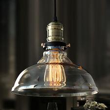 Nueva Y Moderna Vintage Industrial Retro Loft Techo De Cristal Pantalla De Lámpara Colgante De Luz