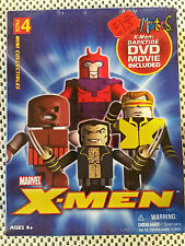 Art Asylum  Minimates - X-Men 4-pack plus DVD - Wolvie, Cyclops, Magneto -=NEW=-