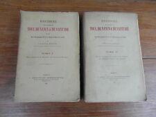 Eugene MARTIN / HISTOIRE DIOCESES TOUL NANCY SAINT DIE Crepin 1900-1901 2 vol.