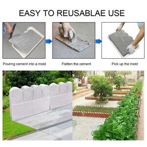 Garden Fence Molds Concrete Brick Courtyard Mould Plastic Cement Mold Decor DIY
