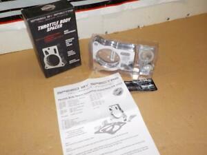 SPECTRE 11251 THROTTLE BODY SPACER ~Chevrolet 4.8L 5.3L 6.0L ~polished aluminum