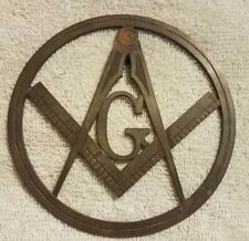 Masonic Early 1900s Mason Vintage Metal Wall Door Plaque Shriners International