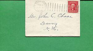 New Hampshire Cover - Laconia 1906 W/ DOR-D - S8533