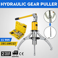 15T Hydraulic Bearing Gear Puller Wheel 300mm Max Spread Integral Type 2/3 Jaw
