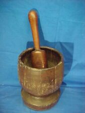 New listing Early 19thc Primitive Hand Crafted Wood Mortar + Pestle