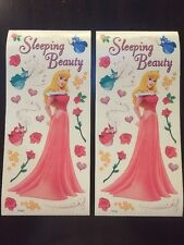 2 Disney Princess Scrapbook Sticker Sheet 12x5 Sandylion Sleeping Beauty Aurora