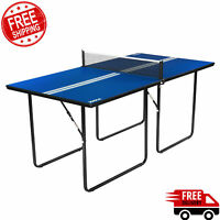 Indoor Outdoor Ping Pong Table Set Tennis Folding Multiple Use Game Sport Net