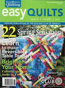 Easy Quilts Magazine 22 Spring Projects Reversible Table Toppers Colorful 2011