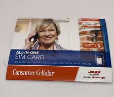 New listing Sealed Consumer Cellular T-mobile Sim Card (Nano, Micro, Standard)+$10 Credit