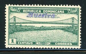DOMINICAN REPUBLIC MLH Specimen MUESTRA: Scott #295 1c RAMFIS Bridge $$$