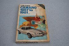 CHILTON  Chevrolet Camaro 67-81 SHOP REPAIR MANUAL 6735