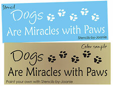 Stencil Dogs Miracles Paws Puppy Pet Dog Animal Track Border Kennel Vet Signs