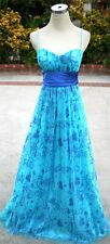 NWT WINDSOR $150 Turquoise Royal Evening Formal Gown 5