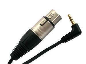 XLR to 3.5 mm plug Microphone Lead for DV, camcorder