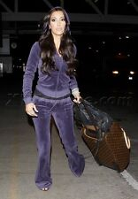 JUICY COUTURE VELOUR RELAXED HOODIE AND BOOTCUT PANT SET NEW Small $236