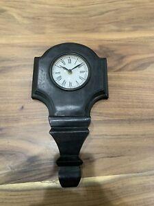 Decorative black wall clock