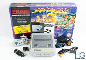 Super Nintendo SNES Street Fighter 2 Turbo Console Bundle Boxed! PAL