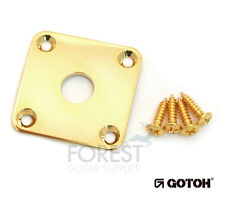 Gotoh JCB4 Metal Jack plate square curved Gibson LP ® style gold with screws