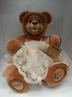 "Vintage 1980's 10"" Robert Raikes Orange Blossom signed mohair bear fully jointed"