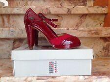 Chaussures hauts talons rouges cuir et daim Marque HARLOT. T 40 Neuves