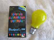 6 x Yellow 60W B22 BC Bayonet Lamp Light Bulb 240V Old Style Vintage UK