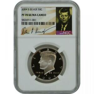 2004-S John F Kennedy Silver Half Dollar - NGC Proof-70 Ultra Cameo