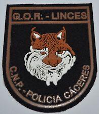 Spain Police Cuerpo Nacional De Policia Caceres Patch - G.O.R. Linces